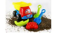 5 Pcs Sandpit Truck Toys Kids Square Sand Pit Outdoor Beach Play Gift