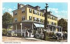 Pen Mar Pennsylvania Crouts Hotel Exterior Street View Antique Postcard K26988