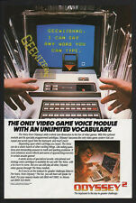 1982 ODYSSEY 2 VIDEO GAME VOICE MODULATOR & System VINTAGE ADVERTISEMENT