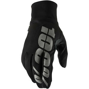 100% - Hydromatic Waterproof Gloves  Base Color: Black / Gray
