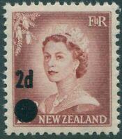 New Zealand 1958 SG763 2d on 1½d brown-lake QEII MNH
