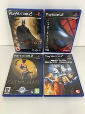 PS2 Playstation 2 Retro Bundle Marvel DC Games x4 Batman Spider-Man Catwoman