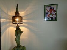 """Tribal Black Dancer"" Art Deco African Lamp, Artist Signed & Dated"