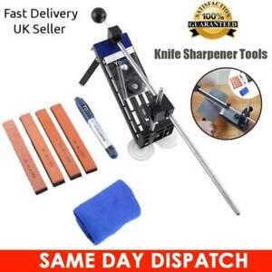 Professional Fix-Angle Sharpener Kitchen Sharpening Tool + 4 Whetstone Kit UK