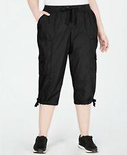 Calvin Klein Performance Cropped Cargo Pants - Black - Plus Size 1X *NEW w/ Tag*