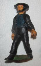 Mini Miniature Cast Iron Amish Father or Man Husband Figure Figurine