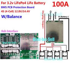 12V 100A LiFePo4 Battery BMS LFP PCM SMT System 4S x 3.2V eBike Battery Balance