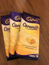 3  x  Cadbury Caramilk Chocolate Block  180g Non-Recall exp 26.10.20