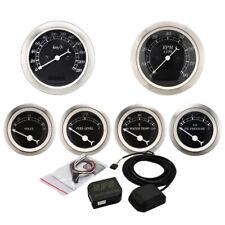 MOTOR METER RACING Classic 6 Gauge Set Electronic Speedometer GPS Set KMH °C BAR