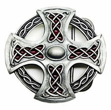 Northumberland Cross Belt Buckle Authentic Bulldog Product - Celtic Norse Shield