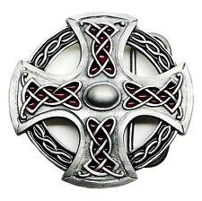 Northumberland Cruz Hebilla de cinturón auténtico producto-Celta Norse Escudo Bulldog