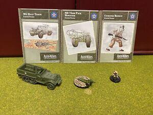 Axis & Allies Miniatures, World War II, USA Lot G, Soldier, Half Track Truck