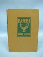 Book:  Bambi by Felix Salten - Hardcover 1929 Edition - Grossett/Dunlap