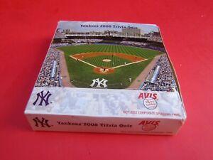 NEW YORK YANKEES 2008 Trivia Quiz By Avis 60 Card Set