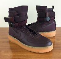 Nike SF Air Force 1 High Men's Shoes (864024-600) Burgundy Gum Bottom SIZE 10.5