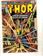 Lot Of 5 Mighty Thor Marvel Comic Books # 229 230 232 233 234 Odin Loki Sif Fm1