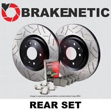 FRONT BRAKENETIC PREMIUM SLOTTED Brake Rotors+POSI QUIET Ceramic Pads BPK72916