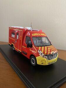 Alerte0096 Renault Master TIB Alerte Pompier 1/43
