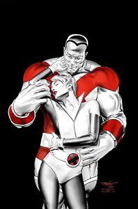 X-MEN WEDDING SPECIAL #1 MAYHEW MEGACON VIRGIN VARIANT MARVEL COMIC COLOSSUS