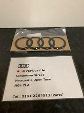 Genuine Audi Front/Rear Grille Badge Rings Gloss Black for A3/Q2/TT/R8/TTRS
