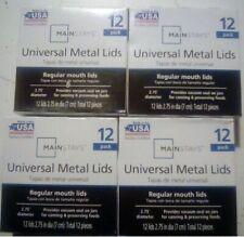 4 PACK 48lids ||Mainstays Kerr Ball Metal Canning Lids Regular Mouth Jars 12Lids
