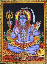 Handmade Indian Goddess Wall Hanging Lord Shiva Poster Hippy Tapestry Hindu God