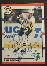 Phil Bourque Pittsburgh Penguins 1990 Score # 234 autographed Hockey Card