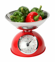 Dexam Retro Design Traditional Mechanical Kitchen Scales Red 5kg 11lbs New