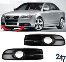 NEW AUDI A4 B7 2005 - 2008 S LINE FRONT BUMPER FOG LIGHT GRILL LEFT RIGHT PAIR