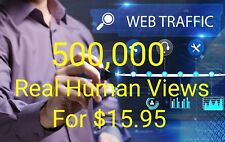500,000 Views For Your Website Real Human Traffic 500000 With Live stats