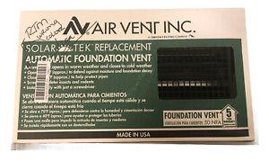"Air Vent SolarTek Replacement 17.5-in x 9.5-in Plastic Foundation Vent ""Brown"""