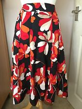 Monsoon Ladies Patterned Floral Cotton Skirt Size 10. Great Condition.