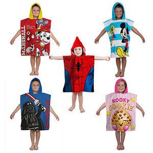 Disney Hooded Bath Beach Towel Poncho Kids Paw Patrol Frozen Elsa Ironma Hulk