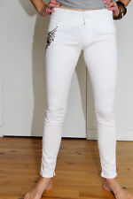 pantalon chino blanc strass été  MET AND FRIENDS baspiane T 26 (36) NEUF v. 150€