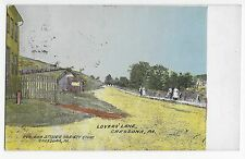 Cressona PA Lovers' Lane Pub for Stine's Variety Store Vintage Postcard