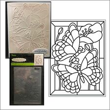 Darice embossing folders MOSAIC BUTTERFLY embossing folder 8389 Animals,insects