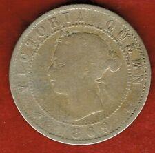 JAMAICA 1869  HALF CENT  QUEEN VICTORIA  ....MINTAGE 192,000
