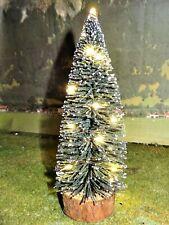 Weihnachtsbaum 19 cm LED beleuchtet mit 20 LED + Batterien f. Spur G / 1 und 0