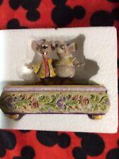 Disney Traditions Jim Shore Bosom Buddies Trinket Box Cinderella Jac and Gus