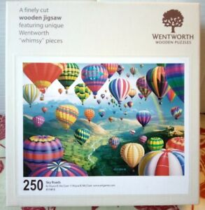 Wentworth Sky Roads Wooden Jigsaw Puzzle 250 Pieces Complete Hot Air Balloons