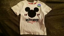 Little Boys Disney Mickey Mouse White T-shirt $14.99 BNWT