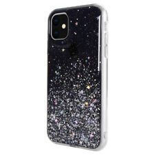 For iPhone 11 - Switcheasy Black Starfield Quicksand Style Case