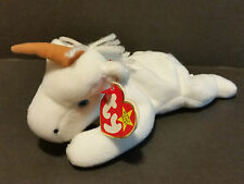 1993 TY Beanie Babies Mystic the Unicorn With Orange Horn, PVC Pellets