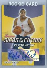 2004-2005 Bowman DP&P Basketball Rashad Wright Indiana Pacers Autographed RC