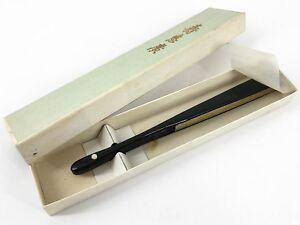Vintage Japanese Small Gold & Silver Ceremonial Sensu Fan Original Box Nov18-M