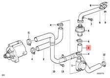 Genuine BMW E36 Z3 Cabrio Emission Control Air Pump Hose OEM 11727837593