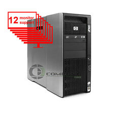 HP Z800 Multi 12-Monitor Computer/Desktop 8-Core/1TB + 256GB SSD/ NVS 450/ Win10