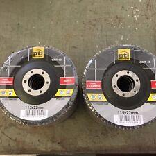 20 FLAP DISCS 40 60 GRIT MEDIUM COARSE ABRASIVE 115mm 4 1/2 ANGLE GRINDER WHEELS