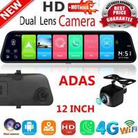 """12"""" Android 8.1 Quad Core ADAS Car DVR Rückspiegel Dash Cam Kamera GPS Navi"""