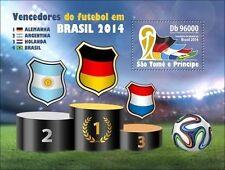 Sao Tome 2014 Winners Brazil World Cup FIFA Football Germany Argentina S/S 302 u